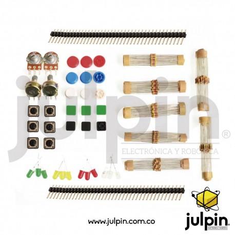 kit de resistencias y componentes