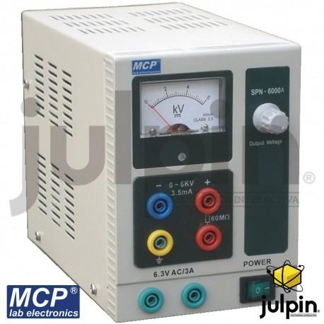 Fuente regulada con salidas DC y AC. Serie M10-SPN6000A