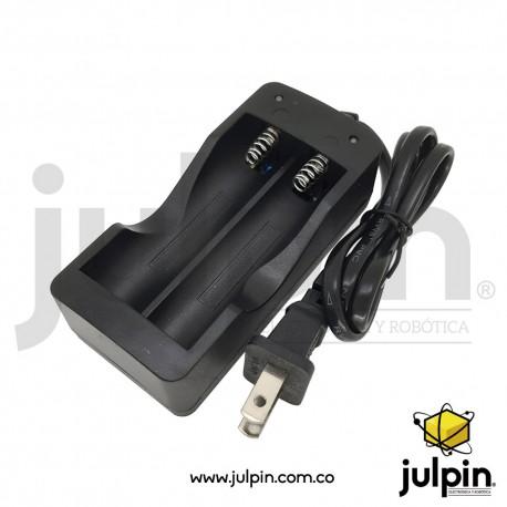 Cargador para baterías de litio 18650