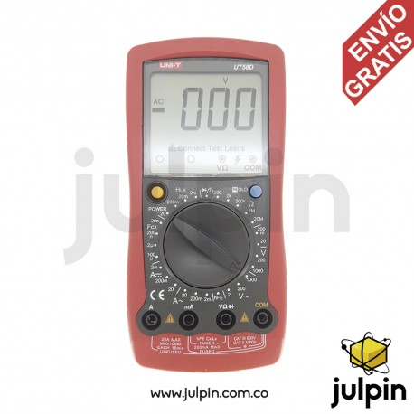 Multímetro con medidor de inductancia UT58D