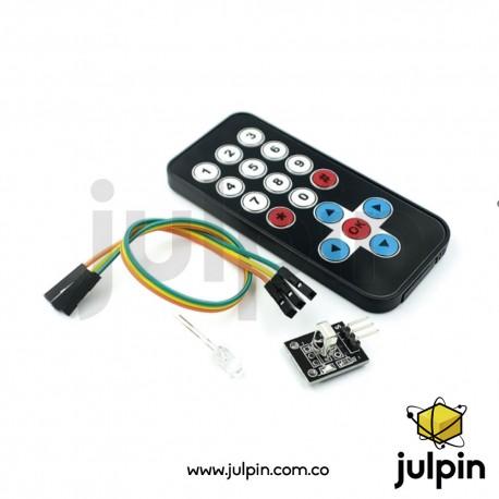 Control remoto + receptor infrarrojo