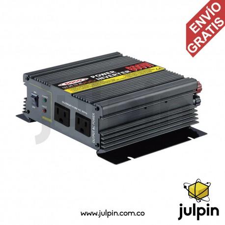 Inversor de corriente de 600W (12VDC a 110VAC)