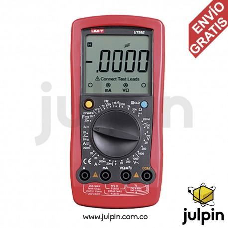Multímetro con medidor de capacitancia UT58E