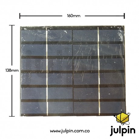 Panel solar de 6V a 500mA