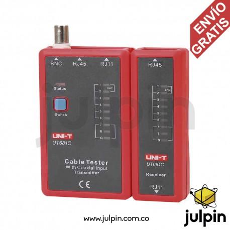 Tester digital de cable RJ11, RJ45 y BNC. UT681C