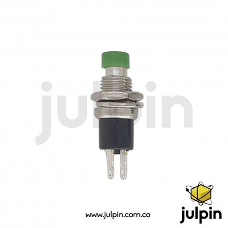 Botón pulsador normalmente abierto (verde)